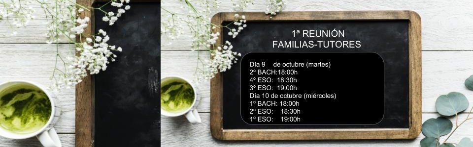 REUNIÓN INICIAL FAMILIAS-TUTORES/AS